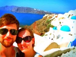 Selfie in Santorini